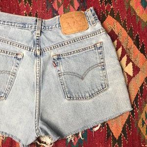 Vintage Levi's High Waist Mom Jean Cut Off Shorts